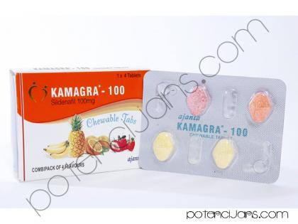 Kamagra chewable 4x100mg - NOVO!